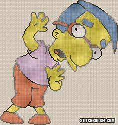 Milhouse The Simpsons Cross Stitch Pattern by StitchBucket