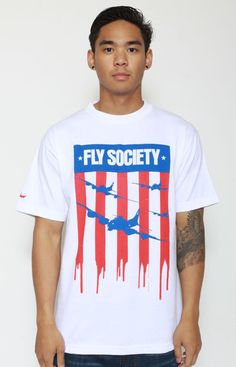 Flag T-Shirt by Fly Society at MOOSE Limited