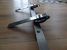 Stalen rail met hangrollers