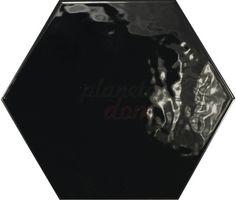 Equipe - Hexatile Negro Brillo 17,5x20
