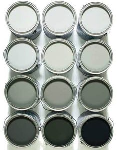 I bought a grey paint that looks freaking green on my walls. The perfect shade of grey paint - we went with Spray River by General Paints and are loving it! Shades Of Grey Paint, Fifty Shades Of Grey, Shades Of White, Things Organized Neatly, Gray Aesthetic, Interior Paint Colors, Paint Colours, Interior Design, Wall Colors