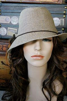 Unbalance Brim Fedora with removable by EMarieDesignsShop on Etsy, $36.00