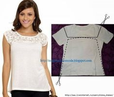 Image result for t shirt refashion