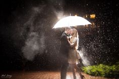 Seattle Night Rain Engagement Shoot.    - by Seattle based wedding photographer Nick Leung www.nickleungphotography.com