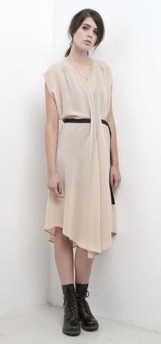 SALASAI MILLER DRESS - NUDE  AW2012 UNCHARTERED TERRITORY
