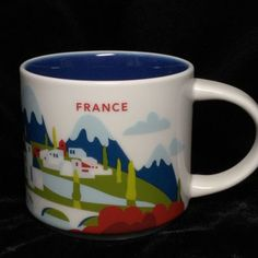 Starbucks-France-YAH-Mug-Wine-Vin-Cheese-Bread-Alps-French-Cup-You-Are-Here