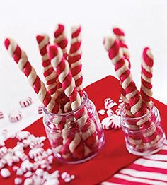 Candy Cane Twists  Recipe from: Semi-Homemade Desserts  by Sandra Lee   Cookbook Heaven  at  Recipelink.com