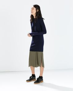Image 1 of DRESS WITH HOOK-AND-EYE CUFFS from Zara