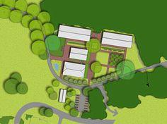 Het beplantingsplan voor WWA De Heuvel is een rijke, streekeigen illustratie van wat er vroeger groeide en bloeide op Veluwse boerenerven. Door Vollmer & Partners.