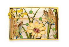 PLAQUE DE COU ART NOUVEAU AMETHYSTE, GRENATS, EMAIL ET DIAMANTS, PAR HENRI DUBRET | Jewelry, brooch | Christie's