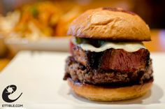 Pastrami burger at Umami Burger, NY. (Photo by: ettible)