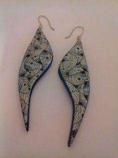 Goodartday - wearable art - original handpainted jewels