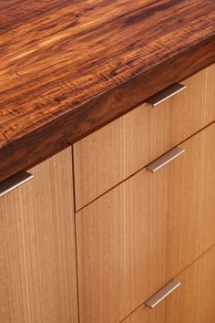 Tab drawer pulls from Mockett allow pulls to be edge mounted on a ...