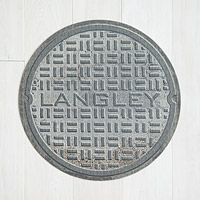 PERSONALIZED MANHOLE COVER DOORMAT|UncommonGoods