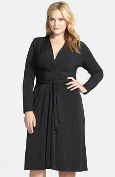 f3c085514885 MICHAEL Michael Kors Long Sleeve Faux Wrap Dress (Plus Size)