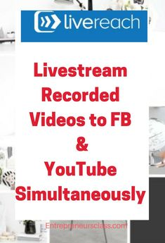 Want to reach millions of people on Facebook and YouTube? This tool help you to Livestream Recorded Videos to FB & YouTube simultaneously and reach millions of people and double your engagement . #livestreamingequipment #livestreamingapp  #livestreamingappvideos  #livestreamingsetup