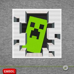 Minecraft Embroidery Design Creeper 3D Door by MbroiDownload