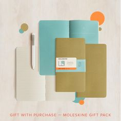 Work, creativity and travel — Moleskine has you covered!  For the first 100 people who spend over $70 in one order, with at least one Moleskine item, you'll receive a free Moleskine gift pack comprising 1 x olive Chapters Journal & 1 white ballpoint pen, worth almost $40!  Valid until 21 April, 10am AEDT or while stock lasts. $70 spend must be spent in one transaction and include one Moleskine item. No coupon code necessary.