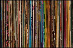 La couleur de la musique sur des pochettes vinyles