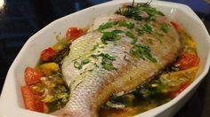Semana dos namorados: jantar com peixe assado e temperado com alho, gengibre e pimenta
