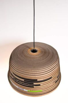 "Corrugated cardboard  The lamp ""Beute"""