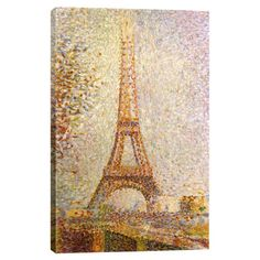 Print of Georges-Pierre Seurat's Eiffel Tower on canvas.   Product: Wall artConstruction Material: Cotton can...