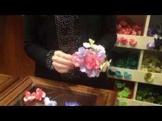 Tocado de flores flamenca