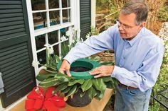 Making Magnolia Wreaths: Use Florist Foam
