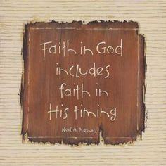 Faith in timing