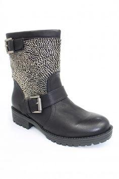 Boots / Bottine entièrement perlées est fait partie de nos best seller à ne pas manquer.  Matière : Cuir PU et intérieur Cuir Hauteur du talon : 3,5 cm Hauteur de la chaussure/tige : 17 cm couleur : Noir / Taupe / Camel 54,90 €