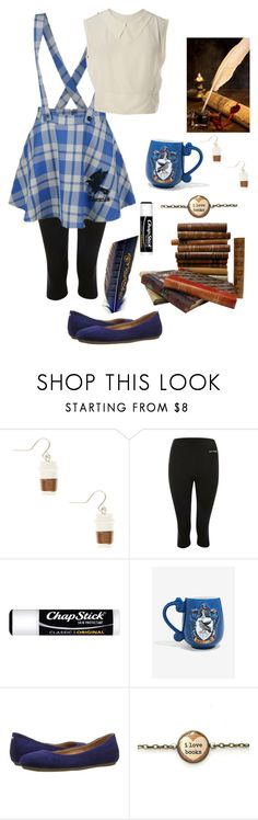 """""""Studying; Ravenclaw"""" by lilydoa ❤ liked on Polyvore featuring Ivy Park, Chapstick, Warner Bros., Naturalizer and Chanel"""