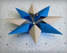 ✵ Diamond Star ✵  . Designed: Francesco Guarnieri . Instruções de dobra: https://www.youtube.com/watch?v=yxnsz4BCQIk&feature=youtu.be . Execução: Margareth Mazzilli  Dezembro/2014