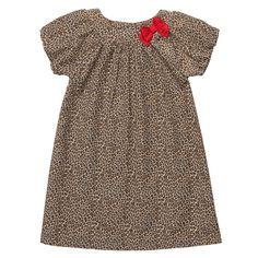 Carter's leopard print corduroy dress. Idea to make for Lola