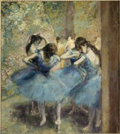 Edgar Degas, Danseuses bleues, vers 1893