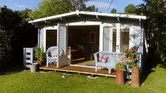 """""""So happy with the log cabin. Gives us excellent outside space. Installation by Derek and John was brilliant. They were so efficient and helpful. End product was worth every penny. Thank you. We would recommend Dunster House products to anyone."""" -Peter Benson"""