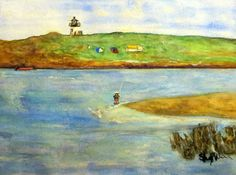 Popham Beach, Maine Fort Popham Fisherman watercolor by Sheryl Wing. Fine art…