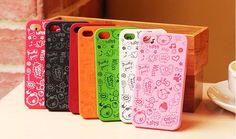 New Colorful Mesh Cute Littel Witch/Magic Girl Style Back Hard Cover Case For Iphone 5 Case For Girls $28.00