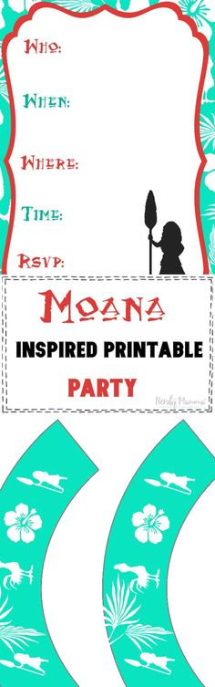 Moana Inspired Printable Party - Another! Kids Printable Coloring Pages, Printable Activities For Kids, Preschool Printables, Free Printables, Easy Crafts For Kids, Easy Diy Crafts, Fun Crafts, Homemade Beauty Recipes, Cheap Things To Do