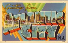 Vintage postcard from Atlantic City  #PBperfectsaturday with @Caitlin Flemming and @Poppy Barley