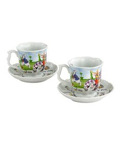 Take a look at this Alice in Wonderland 7-Oz. Cup & Saucer - Set of Two by Cardew Design on #zulily today!