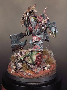 "Orruk Megaboss by David Soper ""Sproket"" · Putty&Paint Warhammer Ogre, Figurine Warhammer, Warhammer 40k Miniatures, Warhammer Fantasy, Fantasy Paintings, Mini Paintings, Warhammer Tabletop, Orks 40k, Skin Paint"