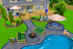 Website with all kinds of backyard layouts and pictures