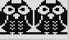 Tricksy Knitter Charts: 2 owls by Mrs.Smile