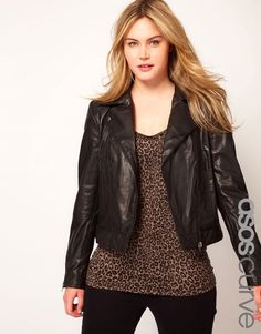 ASOS Curve Leather Biker Jacket... w-a-n-t want it.
