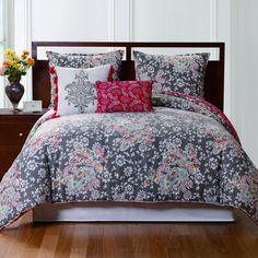 Victoria Classics Double/Queen Capri 5-Piece Comforter Set In Gray And Pink - Beyond the Rack http://vnlink.co/SbjPQ2g $79.99