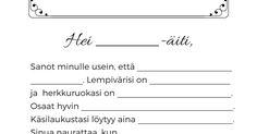 Äitienpäiväkirje Hääräämö.pdf Math Equations, Pdf