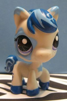 Littlest Pet Shop #1964 Biggest Stars Blue & Gray Horse