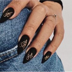 Edgy Nails, Aycrlic Nails, Grunge Nails, Classy Nails, Stylish Nails, Trendy Nails, Swag Nails, Manicure, Black Nails