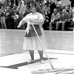 """Do you remember this? -Opera singer Martha Webster played a cleaning woman (sometimes referred to as """"Mop Lady"""") for Indiana Farm Bureau Insurance television commercials from Indiana Basketball, Basketball History, Basketball Rules, Basketball Uniforms, College Basketball, Pitt Basketball, Basketball Skills, Basketball Players, Bobby Knight"""