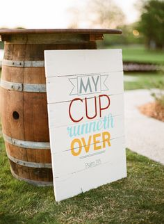 Awesome wedding sign. Love the different colored fonts | Photo: Taylor Lord Photography